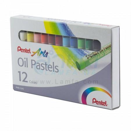 สีชอล์ก 12 สี PHN-12 Pentel