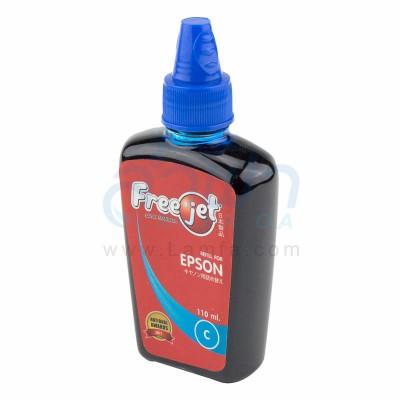 หมึกเติมเครื่องพิมพ์ FREEJET สำหรับเครื่องพิมพ์อิงค์เจ็ต Epson (Cyan)