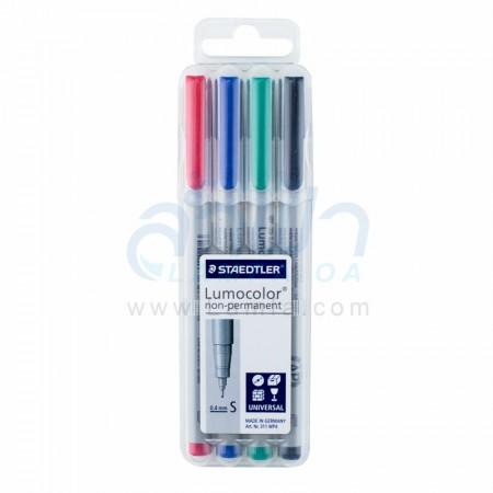"""ปากกาเขียนแผ่นใส 4 ด้าม ลบได้ """"STAEDTLER"""" S 311WP4"""