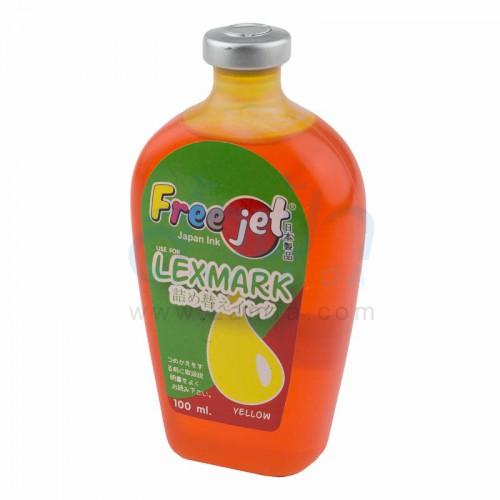 หมึกเติมเครื่องพิมพ์ FREEJET สำหรับเครื่องพิมพ์อิงค์เจ็ต Lexmark (Yellow)