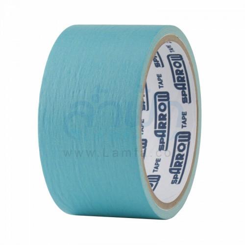 กระดาษกาวย่นสีม้วนใหญ่ 2 นิ้ว สีฟ้า